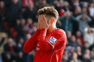 Adam Lallana looks dejected after a missed chance