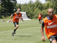 Nash runs during practice with Inter Milan. (Photo: Amy Sussman/AP Images for Guinness)