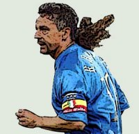 Roberto Baggio is one of the greatest Italian football players ever