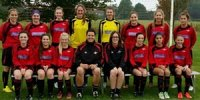 The Swindon Spitfires under-16s team: Poppy Cottrill sits front row, third from left.