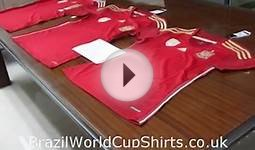 2014 World Cup Spain Home Thailand Quality Soccer Jersey