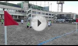 Aaron in Spain beach soccer Vs Natacio Barcelona 16 Sep 2013.