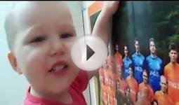 Baby knows all the players from Holland football team