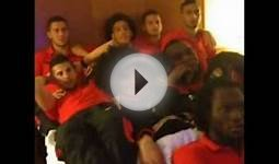 Belgium football team watching a good movie - Lukaku