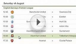 English Premier League Schedule (EPL Schedule) 2014 -15