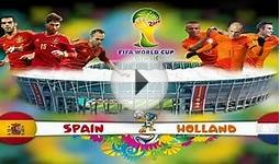 Fifa 14 Spain vs Netherlands World Cup Spain Predicted