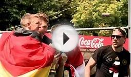 Germany football team celebrates World Cup win on Berlin