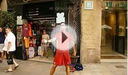 Most Amazing Spanish Football Player is Best at Footbag