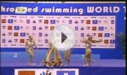 nuoto sincronizzato Italia team free 2008