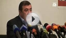 President of Armenian Football Federation holds a news