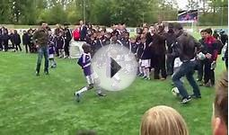School Kids Play With Soccer Stars in Charming Candid Video